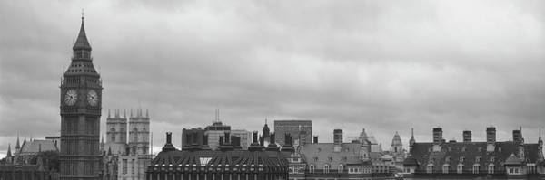 Wall Art - Photograph - Buildings In A City, Big Ben, Houses by Panoramic Images