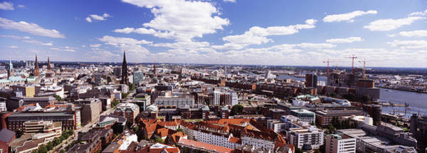 Wall Art - Photograph - Buildings In A City, Hamburg Harbour by Panoramic Images