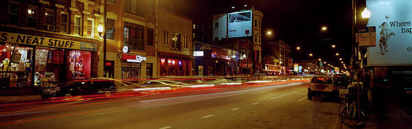 Wall Art - Photograph - Buildings Lit Up At Night, Lakeview by Panoramic Images