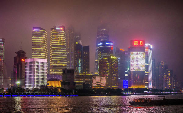 Photograph - Buildings The Bund Shanghai by Gary Gillette