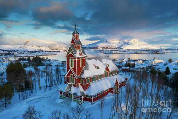 Wall Art - Photograph - Buksnes Church by Inge Johnsson
