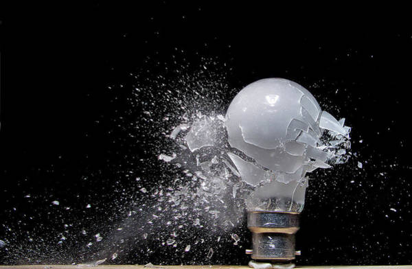 Fuel Wall Art - Photograph - Bulb Blast by Mark Watson (kalimistuk)