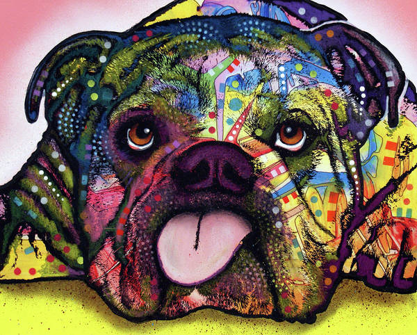Wall Art - Painting - Bull Dog by Dean Russo Art