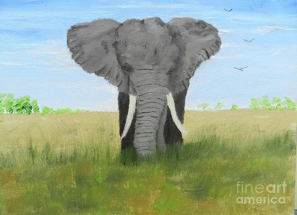 Wall Art - Painting - Bull Elephant by Pamela Meredith