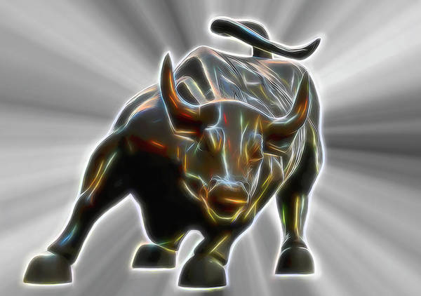 Capitalism Wall Art - Digital Art - Bull Unleashed by Daniel Hagerman