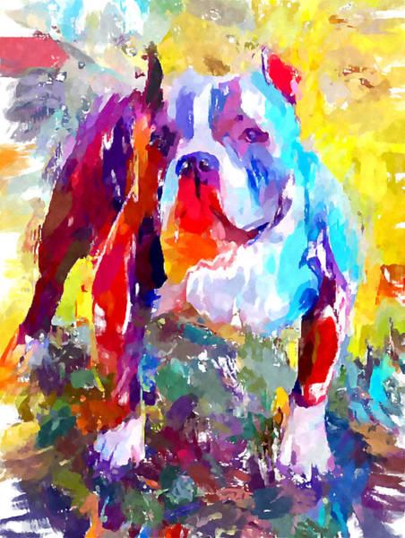 Wall Art - Painting - Bulldog 3 by Chris Butler