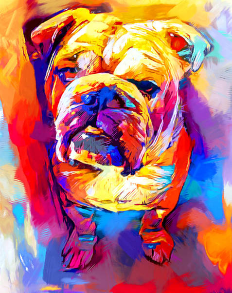 Wall Art - Painting - Bulldog 4 by Chris Butler