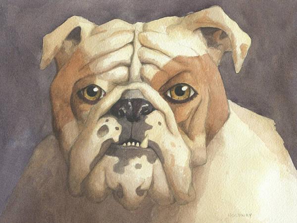 Painting - Bulldog by John Holdway