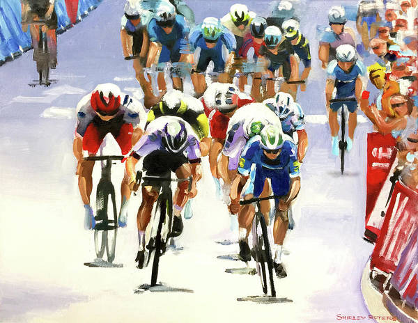 Le Tour De France Wall Art - Painting - Bullet Finish by Shirley Peters