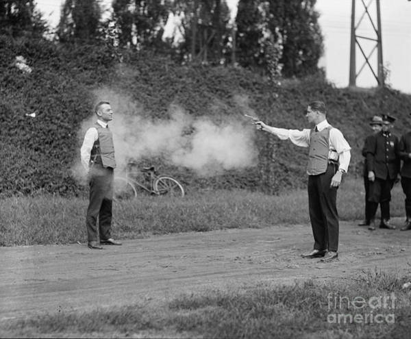 Wesson Photograph - Bullet Proof Vest Testing 1923 by Jon Neidert