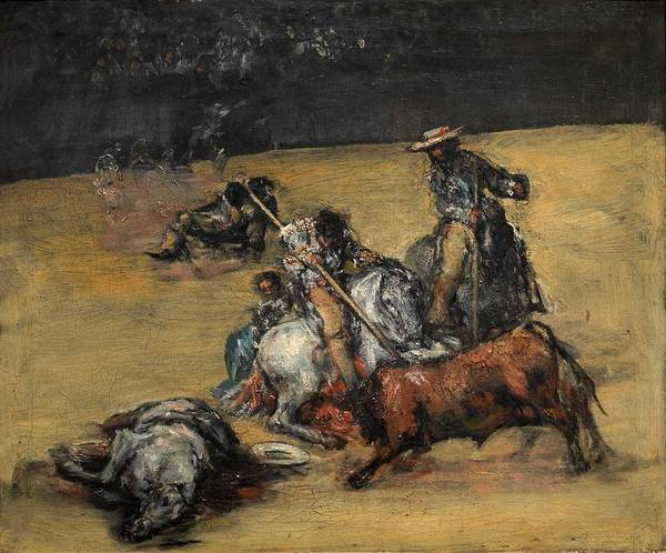 Wall Art - Painting - Bullfight by Celestial Images