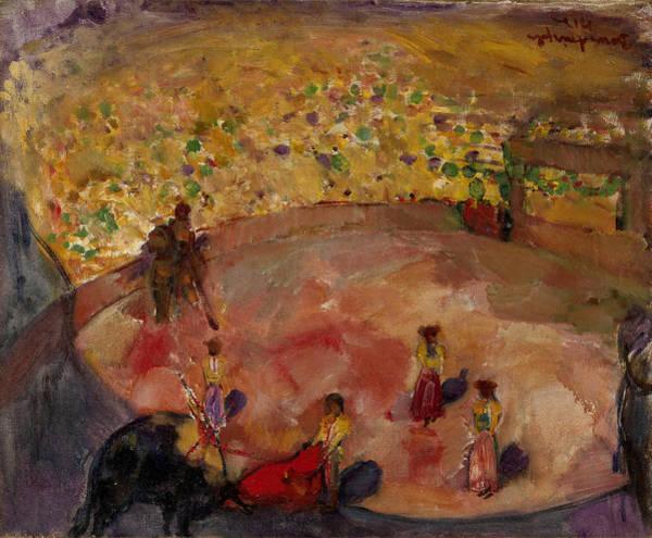 Torro Painting - Bullfight In San Sebastian by Boris Anisfeld