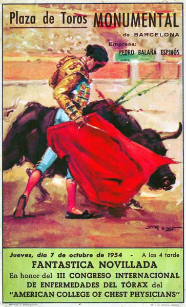 Bullfight Poster Novel Art Print