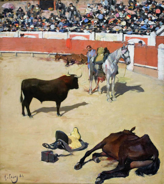 Wall Art - Painting - Bulls, Dead Horses - Digital Remastered Edition by Ramon Casas