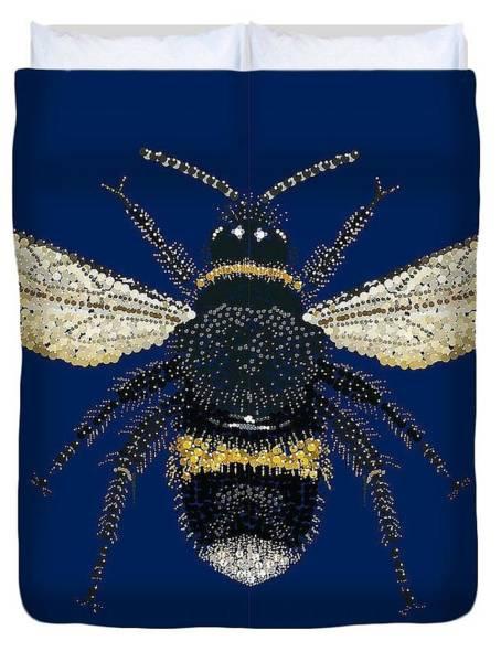 Digital Art - Bumblebee Bed Spread by R  Allen Swezey