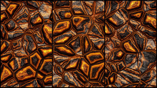 Digital Art - Bumpy Wall Abstract Triptych by Don Northup