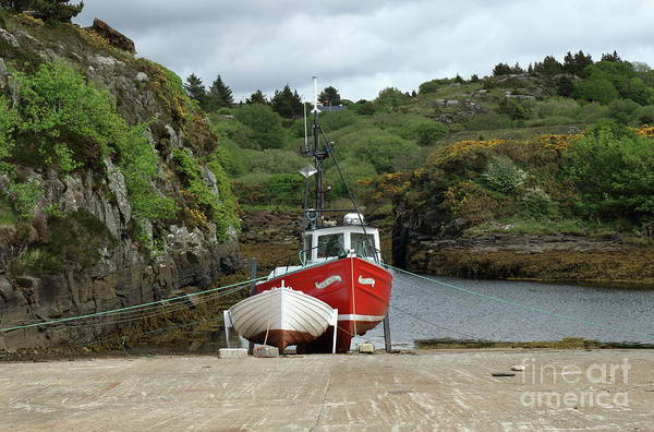 Photograph - Bunbeg Harbour  by Peter Skelton
