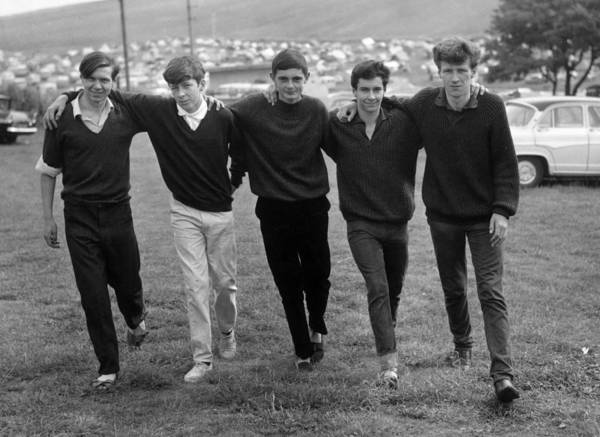 Adolescence Photograph - Bunch Of Lads by Evening Standard