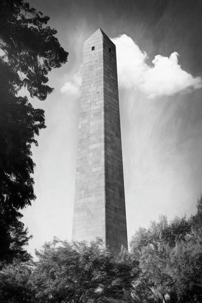 Wall Art - Photograph - Bunker Hill Monument Boston Massachusetts Black And White  by Carol Japp