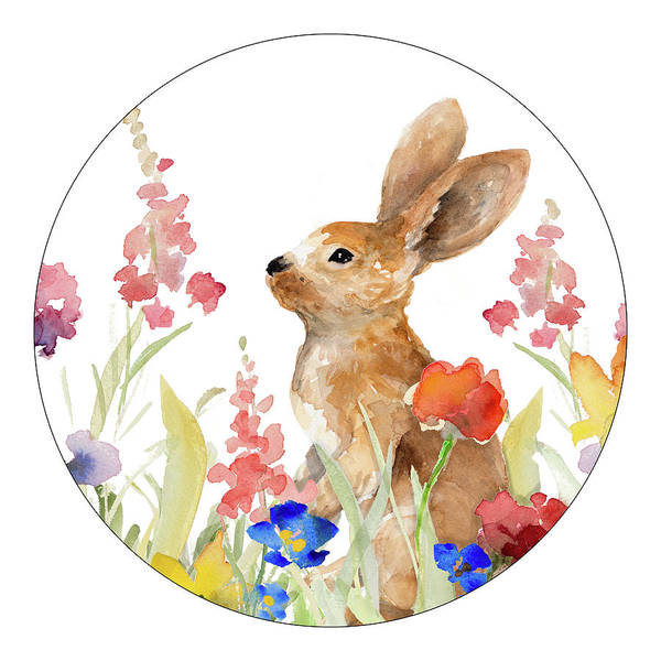 Wall Art - Painting - Bunny Amongst The Flowers I by Lanie Loreth