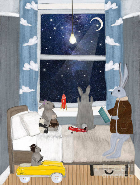 Wall Art - Painting - Bunny Bedtime by Bri Buckley