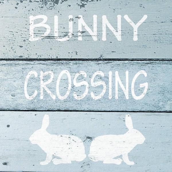 Wall Art - Digital Art - Bunny Crossing Square by Sd Graphics Studio
