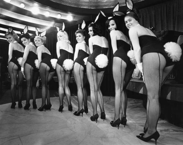 Bending Photograph - Bunny Girls by Victor Blackman