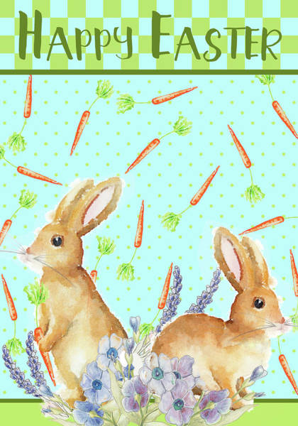 Wall Art - Mixed Media - Bunny Pair I by Andi Metz