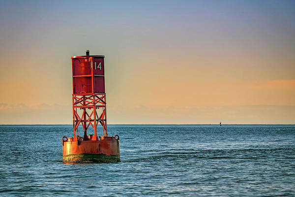 Wall Art - Photograph - Buoy On Casco Bay by Rick Berk