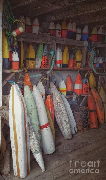 Photograph - Buoys In A Sea Shack by Mary Capriole