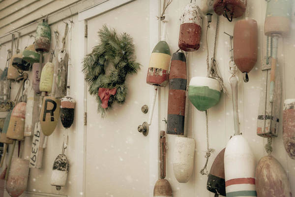 Photograph - Buoys In Winter by Joann Vitali