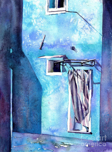 Wall Art - Painting - Burano, Italy Colorful Doorway.  Fine Art Watercolor Of Colorful by Ryan Fox