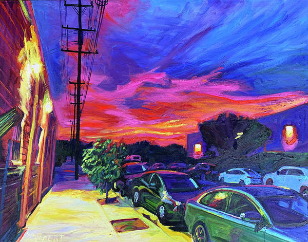 Painting - Burbank Blaze by Bonnie Lambert