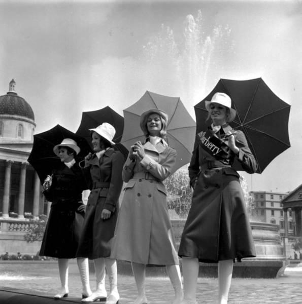 Trafalgar Photograph - Burberry Coats by Evening Standard