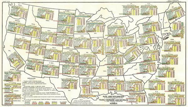 Wall Art - Photograph - Bureau Of Immigration Map 1903 by Daniel Hagerman