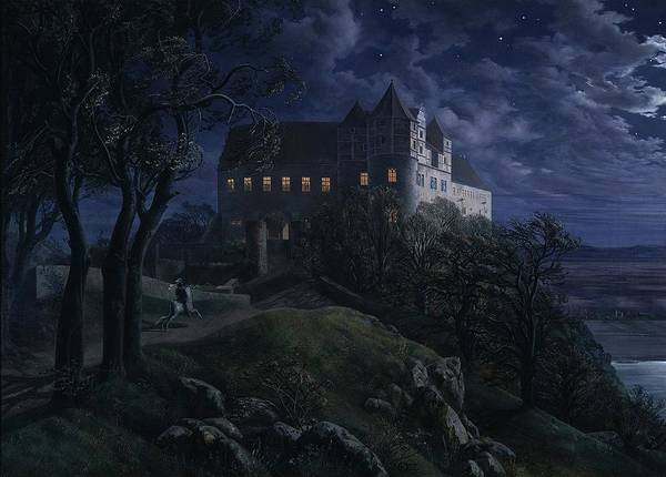 Wall Art - Painting - Burg Scharfenberg by Ernst Oehme