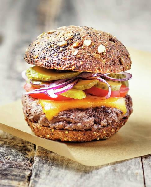 Buns Photograph - Burger by Claudia Totir