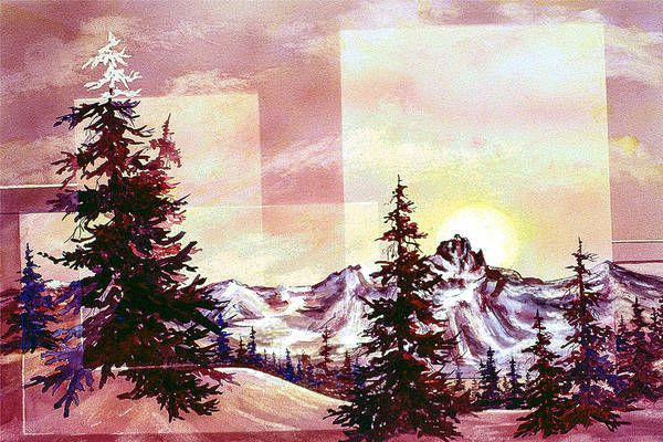 Painting - Burgundy Sunrise by Connie Williams