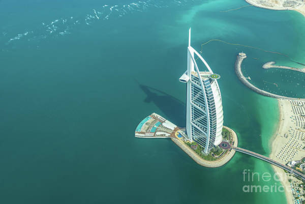 Wall Art - Photograph - Burj Al Arab From Above In Dubai by Delphimages Photo Creations