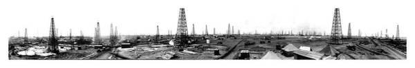 Photograph - Burk-waggoner - Oil Field 1919 by Doc Braham