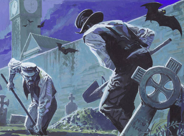 Grave Robbers Wall Art - Painting - Burke And Hare, Famous Grave Robbers by Severino Baraldi