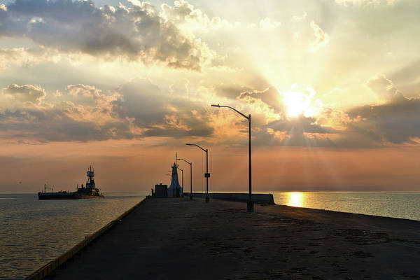 Photograph - Burlington Canal Lighthouses by Nick Mares