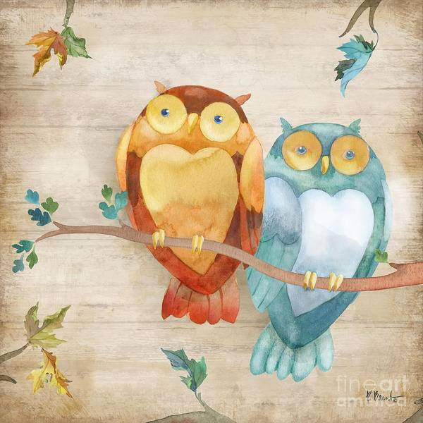 Wall Art - Painting - Burlington Owls by Paul Brent