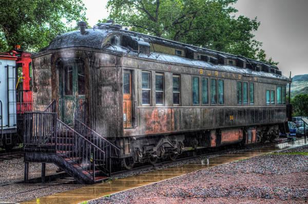 Railroad Wall Art - Photograph - Burlington Passenger Car by G Wigler