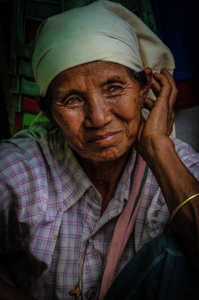 Photograph - Burmese Lady by Chris Lord