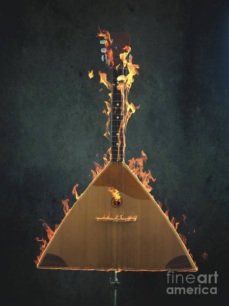 Flammable Wall Art - Photograph - Burning Balalaika by Andreas Berheide