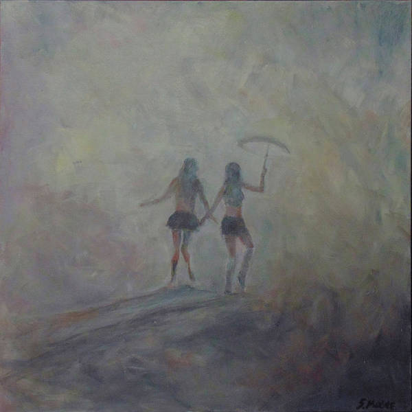 Painting - Burning Girls by Susan Moore
