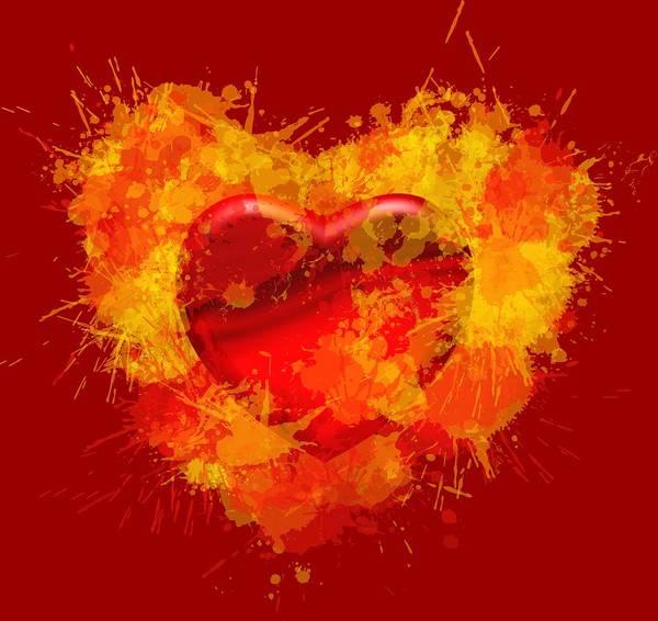 Burning Heart Art Print