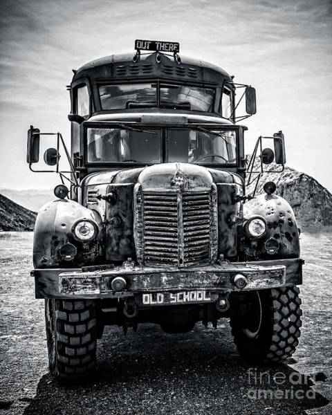 Wall Art - Photograph - Burning Man Type School Bus by Edward Fielding