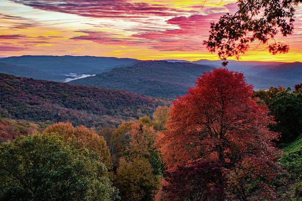 Photograph - Burning Sunrise At Artist Point - Mountianburg Arkansas by Gregory Ballos
